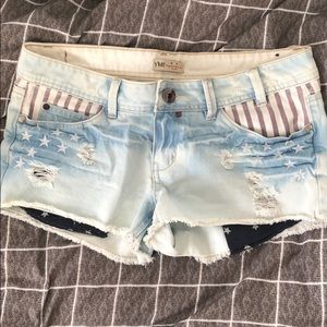American flag denim cutoffs